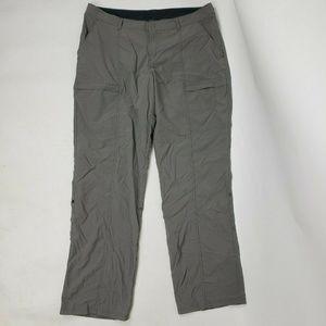 EXOFFICIO Grey Nylon Pants Size 14